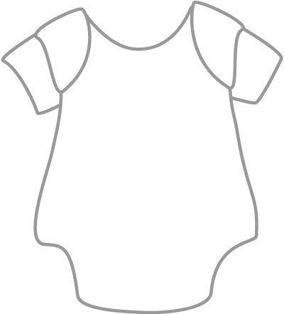 Baby Clothes Coloring Pages With Images Baby Onesie Template