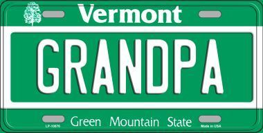 GRANDPA METAL NOVELTY LICENSE PLATE TAG