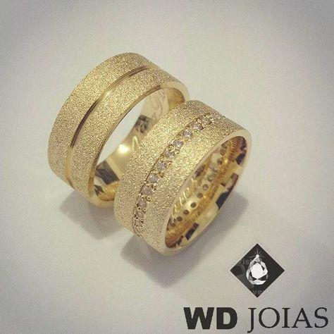 Alianças Casamento Moeda Antiga Diamantadas 9mm MJM74   VESTIDOS DE ... d3c2c7251a