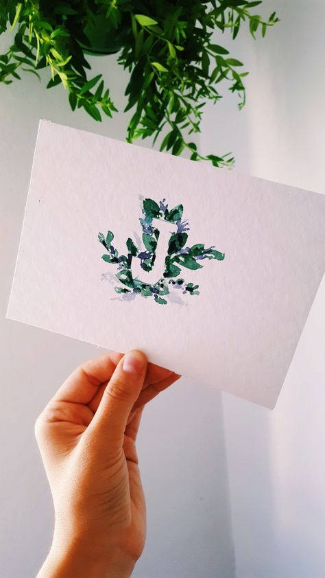 Postcard art watercolor handmade postcard gift idea letter gift