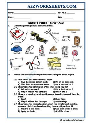 Worksheet Of Ga Worksheets Safety First First Aid Safety First Safety General Awareness Safety And First Aid First Aid For Kids Worksheets For Kids