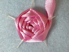 embroidered ribbon rose