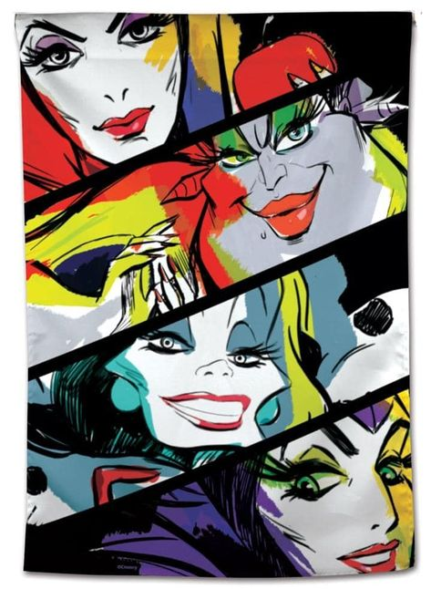 Disney Villains Flag Maleficent Ursula Cruella House Banner