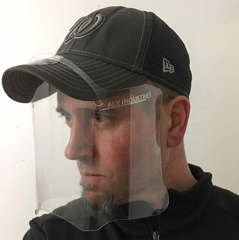 Brim Face Shield Use Your Baseball Cap To Hold Face Shield In Etsy In 2021 Face Shield Face Shield Masks Face Shield Hat