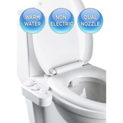 Biobidet Economy Class Duo Bidet Attachment In White In 2020 Bidet Toilet Seat Toilet Cool Inventions