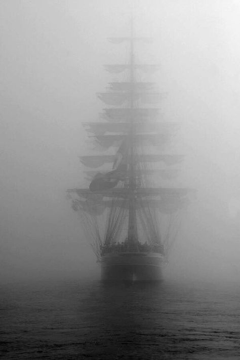 The ship out of the fog- a monster on the sea