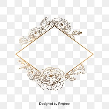 Gambar Bunga Yang Indah Geometri Rangka Untuk Undangan Pernikahan Kad Bunga Menjemput Png Dan Vektor Untuk Muat Turun Percuma Floral Border Design Flower Border Graphic Design Background Templates