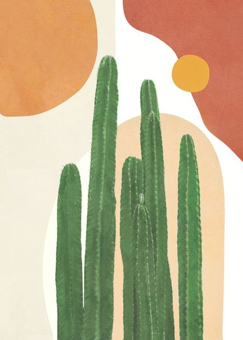Painting | The Golden Girl | Jess Keys, painting, art, drawings, drawing inspiration, drawing ideas, illustration, watercolor, acrylic, bold, colorful, neutral, bright, happy Cute Patterns Wallpaper, Cute Wallpaper Backgrounds, Aesthetic Iphone Wallpaper, Cactus Painting, Cactus Art, Watercolor Cacti, Painting Art, Cute Canvas, Diy Canvas Art