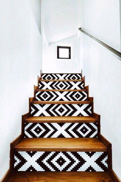 Marches D Escaliers Relookees Traits D Co Magazine Deco