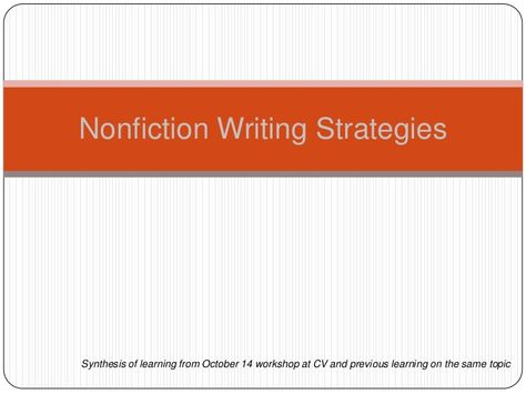 Nonfiction writing strategies- I already use many of these but there are a few new ones!