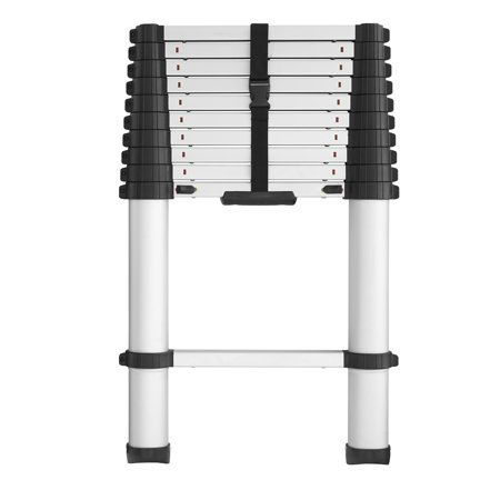 Cosco Smartclose Telescoping Aluminum Ladder With Pinch Free Soft Close Locking Mechanism 300 Pound Capacity 14 Foot Max Reach Walmart Com Aluminium Ladder Cosco Telescopic Ladder