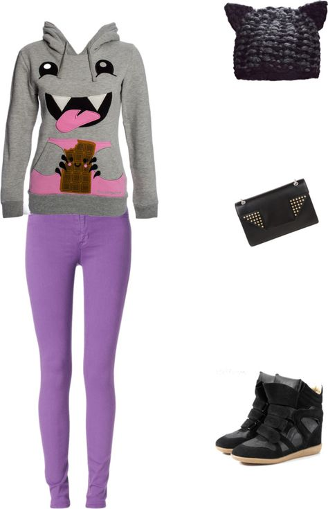 """""""Cute hoodie and skinny jeans"""" by brandyayers on Polyvore"""