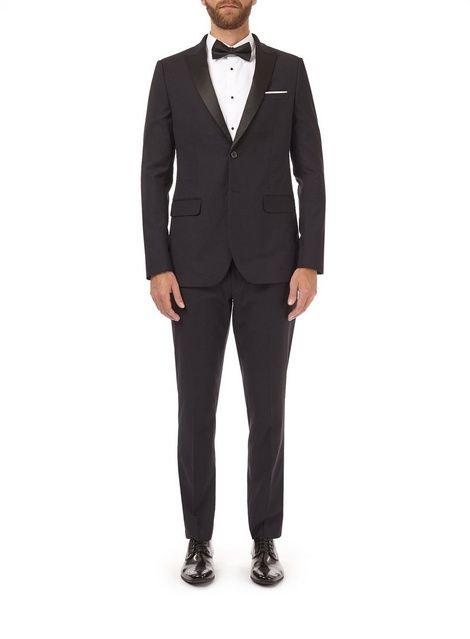 Womens **Burton Black Stretch Skinny Fit Tuxedo Suit Jacket- Black