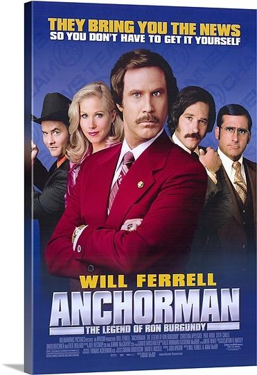 Anchorman The Legend Of Ron Burgundy 2004 Anchorman Movie Good Comedy Movies Ron Burgundy