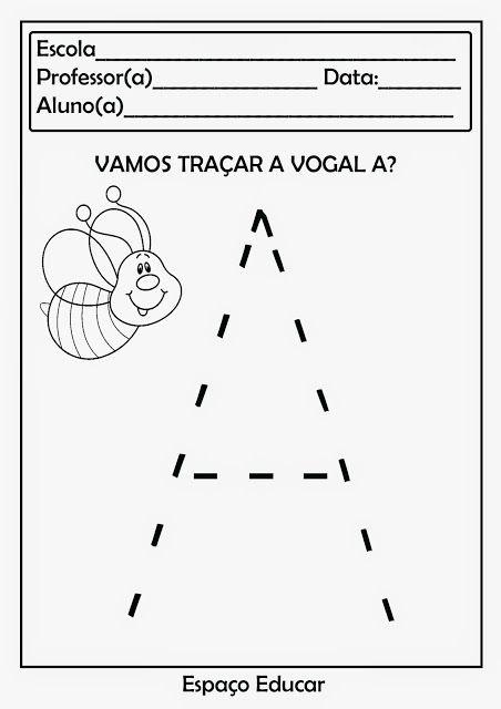 Atividades De Coordenacao Motora Das Vogais Para Imprimir Com