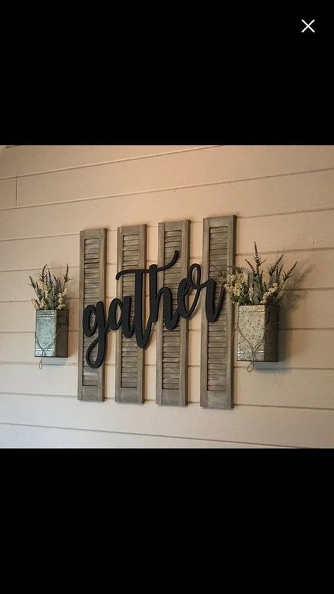 Large Southern Farmhouse Chic Gather Sign (You Pick The Color) Rustic Farmhouse Chic Wooden Letters Home Decor Wooden Phrase Shelf Sign Southern Farmhouse, Country Farmhouse Decor, Farmhouse Style Kitchen, Farmhouse Chic, Farmhouse Homes, Country Kitchen Decorating, Southern Living, Southern Kitchen Decor, Farmhouse Wall Art