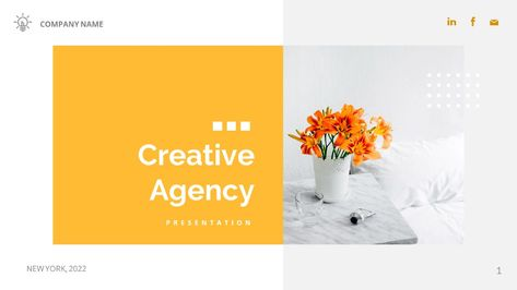 CREATIVE AGENCY - Company Business Presentation Powerpoint Template
