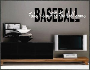 Baseball Wall Quotes Vinyl Wall Quotes Home Decor Baseball Phrases Take Me Out