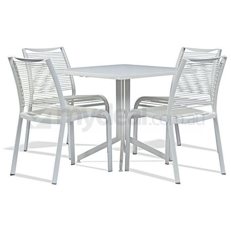 Seychelles White Outdoor Table Setting Square 70cm