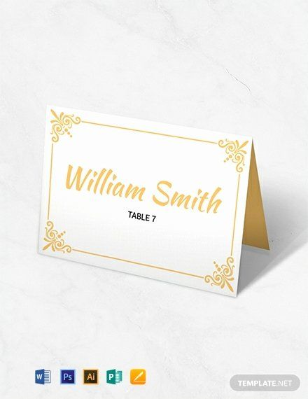 Place Card Template Free Download Lovely Free Printable Wedding Table Card Wedding Place Card Templates Free Place Card Template Printable Place Cards Wedding