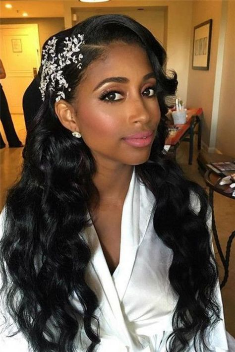 Black brides have a naturally beautiful locks consisting of wavy or curly hair. Wondering what are the best African-American Bridal Hairstyles are? Are you trying to find a hairstyle for your afrocentric wedding? Do you need some tips and trips to breate a black wedding hairstyle? Combined with other factors, this can make selecting the … #dreamwedding #backyardwedding