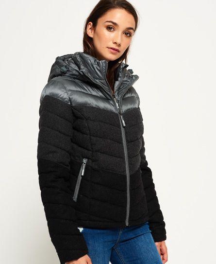 Superdry Hupullinen Fuji Chevron Mix takki   Hooded jacket