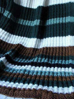 Felted Treasures Knit Afghan For The Manly Man Crochet