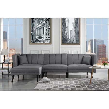 Peachy Mid Century Style Sectional Couch Sleeper Futon Reclining Ibusinesslaw Wood Chair Design Ideas Ibusinesslaworg