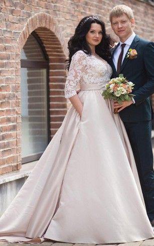 Bildresultat For Plus Size Wedding Dress Floor Length Wedding Dress Wedding Dresses Plus Size Wedding Gowns