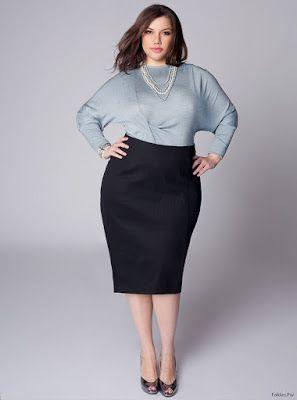 514b12221 Faldas y Blusas Elegantes para Gorditas | Faldas en 2019 | Falda y ...