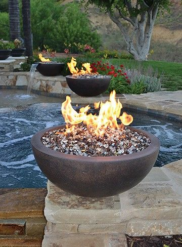 Legacy Round Fire Bowl By Architectural Pottery Outdoor Fire Pit