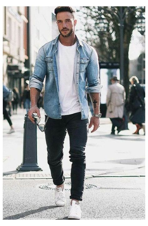 casual wear for men #white #tee #outfit #mens summer outfit formulas for men #mens #fashion