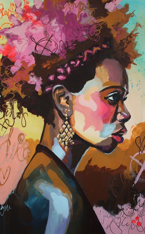 Image Result For African American Painter Images Of Women Glasses Art Portrait Art Art Painting