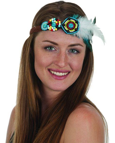 Jacobson Hat Company Ladies White Daisy Hippie Headband