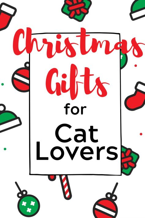 Christmas Gifts for Cat Lovers. The perfect gift for that cat lover in your life. #christmasgiftideas #catlovergift #catloversgiftsideas