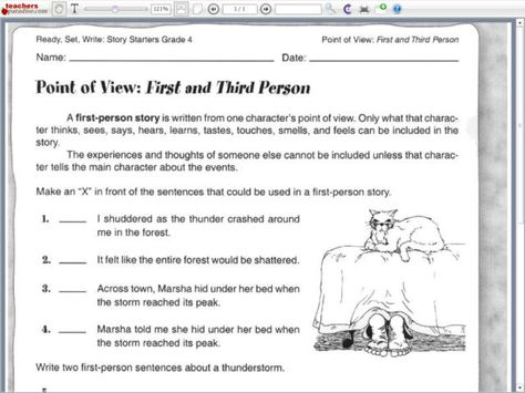 Point Of View Worksheets Who Is Telling The Story Authors Point Of View Reading Worksheets Point Of View