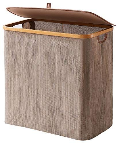 Youdenova Clothes Hamper With Lid 90l Extra Large Waterproof Bamboo Collapsible Laundry Bask Collapsible Laundry Basket Hamper Storage Clothes Hamper Storage