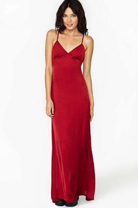Nasty Gal Red Maxi : New Year's Eve Dresses Under $100 : Lucky Magazine