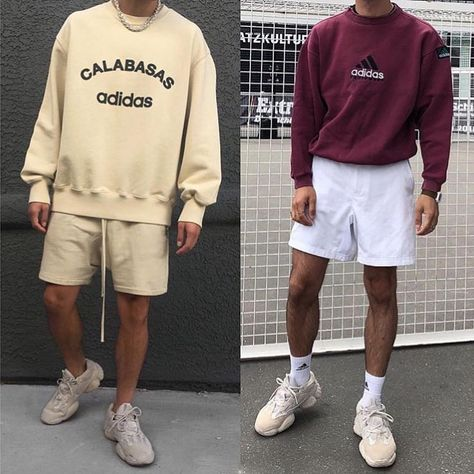 Discover recipes, home ideas, style inspiration and other ideas to try. Streetwear Shorts, Streetwear Summer, Mode Streetwear, Swag Outfits Men, Outfits Hombre, Stylish Mens Outfits, Sport Outfits, Funeral Attire Men, Trendy Mens Fashion