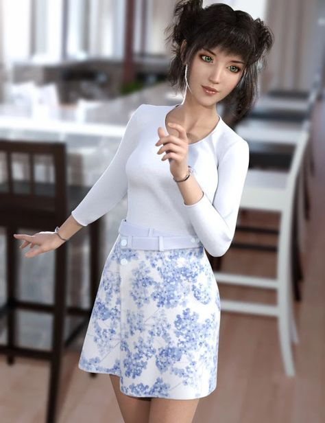 Download DAZ Studio 3 for FREE!: DAZ 3D - dForce Wrap Skirt Outfit for Genesis8 Fem...