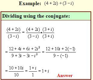Multiplying And Dividing Complex Numbers Complex Numbers