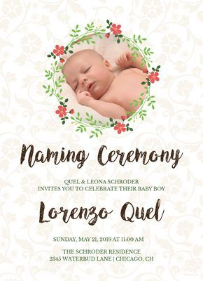 Creative Naming Invitation Template Free Pdf Word Psd Apple Pages Illustrator Publisher Naming Ceremony Invitation Dedication Invitations Naming Ceremony