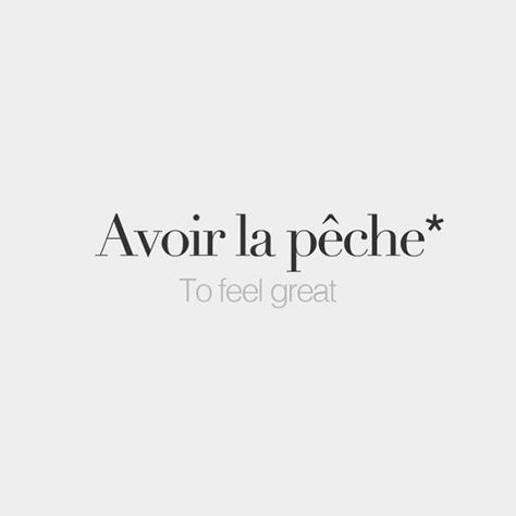 *Literal meaning: To have the peach • /avwaʁ la pɛʃ/ #french #words #frenchwords #français #paris #france