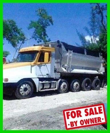 1998 Freightliner Century Quad Dump Truck 380 Hp Cummins Diesel Bed Liner C38454 Freightliner Century Vehicles