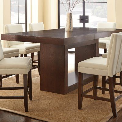 Brayden Studio Maust Counter Height Extendable Dining Table High Dining Table High Dining Table Set Counter Height Dining Table