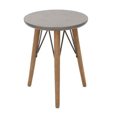 Wood And Metal End Table Metal Accent Table Metal End Tables Side Table Wood