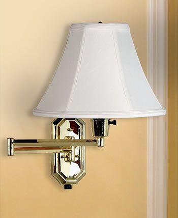 Kenroy Home 30130pb Nathaniel Wall Swing Arm Lamp 30130pb Polished Brass 46 50 Free Shipping 150 Watts Max 16 Wall Sw Swing Arm Wall Lamps Wall Lamp Lamp