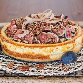 Goat Cheesecake with Figs, Pecans and Honey - a heavenly decadent cheesecake, melts in your mouth.