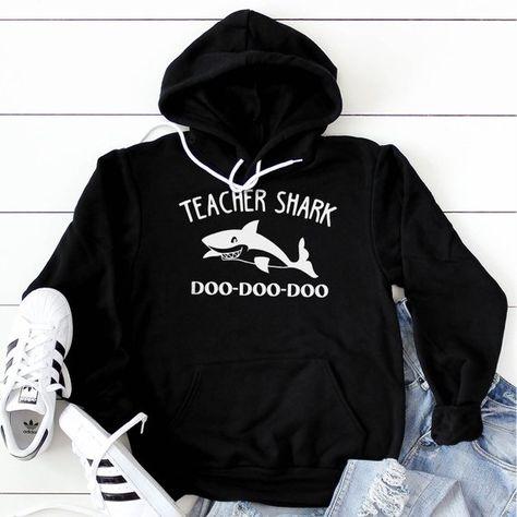 Teacher Shark doo doo doo Zip Hooded Sweatshirt