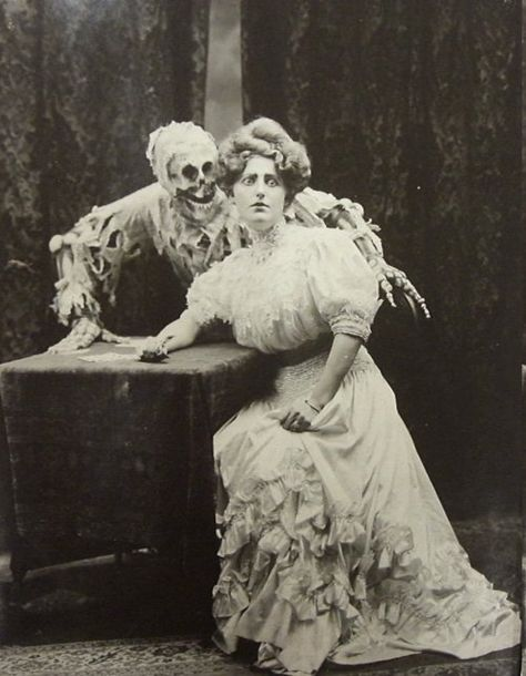 The Victorian era was fixated with scientific discovery and also with morbid subjects like disfigurement and disease. So you get quite a lot momento mori postcards and household items from this time.